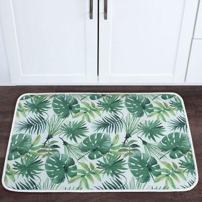Tayse Rainforest Transitional Floral Anti-FatigueComfort Kitchen Mat