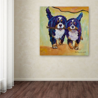 Trademark Fine Art Pat Saunders-White Stick Together Giclee Canvas Art