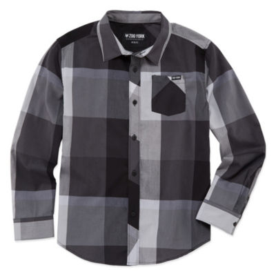 Zoo York Long Sleeve Button-Front Shirt Boys