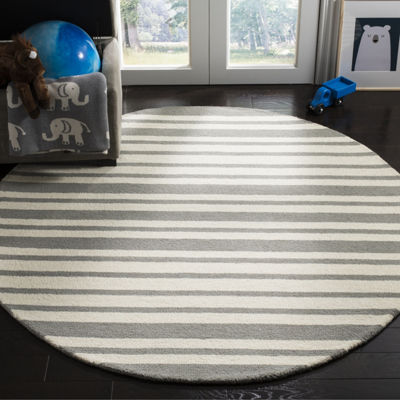 Safavieh Kids Collection Jared Geometric Round Area Rug