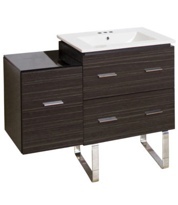 37.75-in. W Floor Mount Dawn Grey Vanity Set For 3H4-in. Drilling
