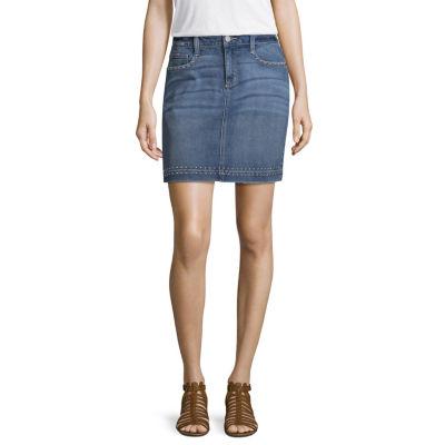 a.n.a Studded Denim Mini Skirt