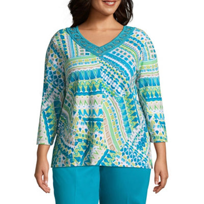 Alfred Dunner Scottsdale Patchwork Tee - Plus