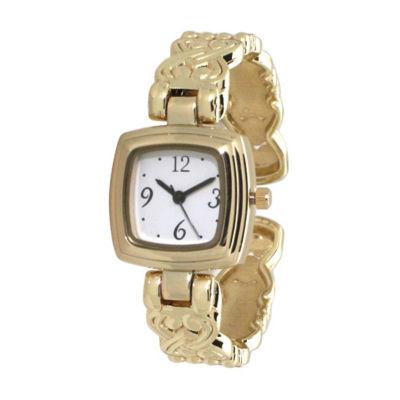 Olivia Pratt Womens Gold Tone Bracelet Watch-A917574gold