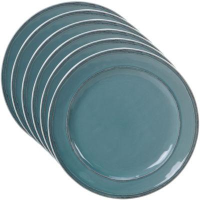 Certified International Orbit Teal 6-pc. Dessert Plate