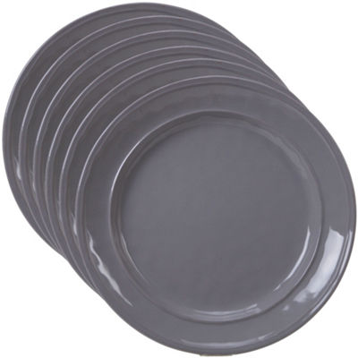Certified International Orbit Grey 6-pc. Dessert Plate