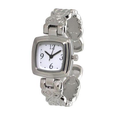 Olivia Pratt Womens Silver Tone Bracelet Watch-A917574silver