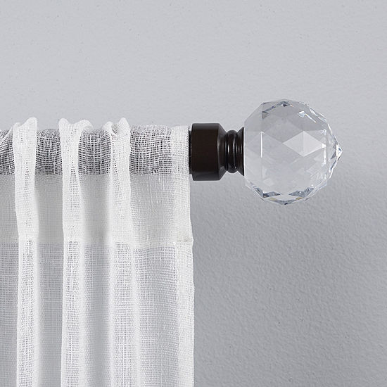 Exclusive Home Curtains Crystal Ball 1 IN Curtain Rod