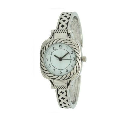 Olivia Pratt Womens Silver Tone Bracelet Watch-A917571silver
