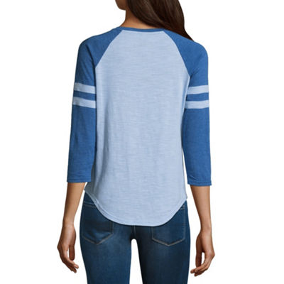 Stitch Lace Up Baseball Tee - Juniors