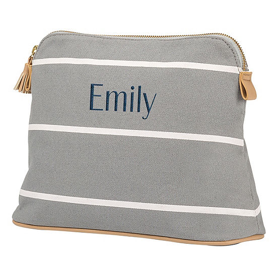 Cathys Concepts Personalized Striped Cosmetic Bag