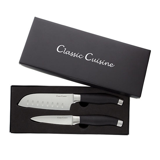 Classic Cuisine Santoku Knife and Paring Knife Set