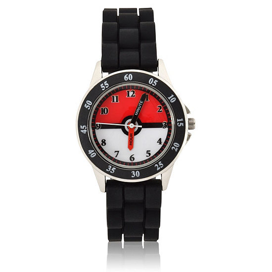 Pokemon Boys Digital Black Strap Watch-Pok9017jc
