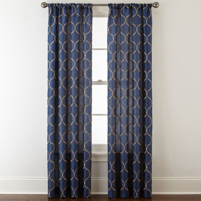 JCPenney Home Geneva Rod-Pocket Curtain Panel