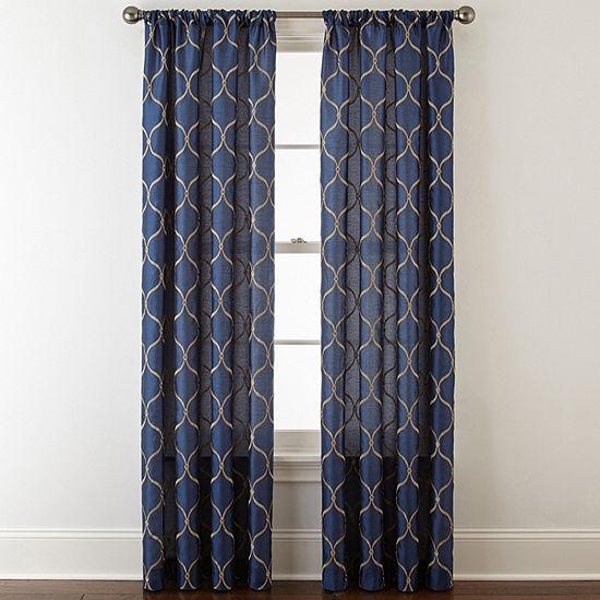 JCPenney Home Geneva Rod-Pocket Curtain Panel