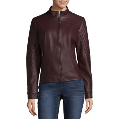 Miss Gallery Faux Leather Lightweight Motorcycle Jacket