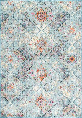 nuLoom Floral Tiles Gaddis Area Rug