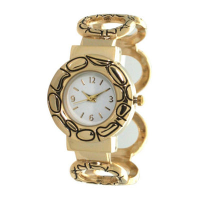 Olivia Pratt Womens Gold Tone Bracelet Watch-A916978gold