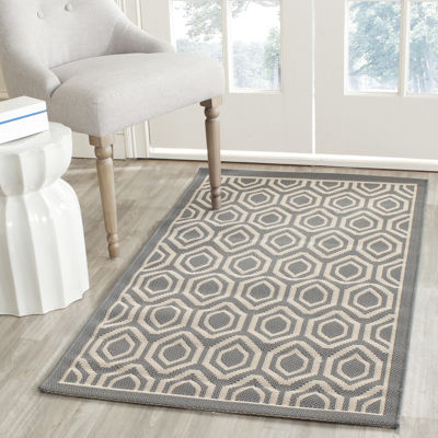 Safavieh Courtyard Collection Carmella Geometric Indoor/Outdoor Area Rug