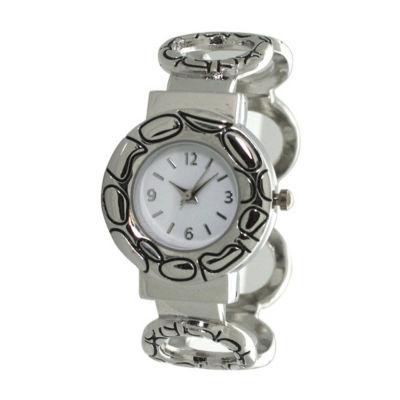 Olivia Pratt Womens Silver Tone Bracelet Watch-A916978silver