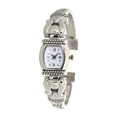 Olivia Pratt Womens Silver Tone Bracelet Watch-A916937silver