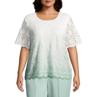 Alfred Dunner Day Dreamer Ombre Lace Sweater - Plus
