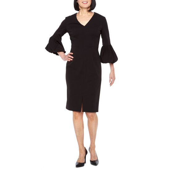 Liz Claiborne 3/4 Bubble Sleeve Sheath Dress