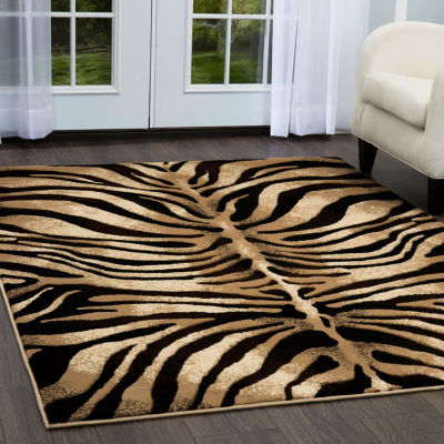 Home Dynamix Tribeca Fawn Animals Rectangular 3-Piece Rug Set