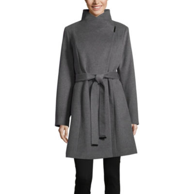 Liz Claiborne Woven Belted Midweight Overcoat