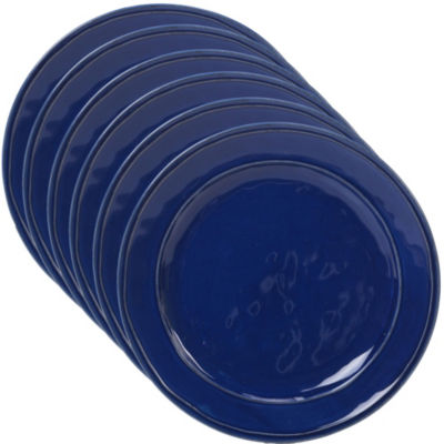 Certified International Orbit Blue 6-pc. Dinner Plate
