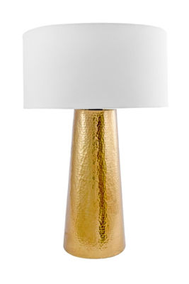"Watch Hill 21"" Layla Aluminum Cotton Shade Table Lamp"