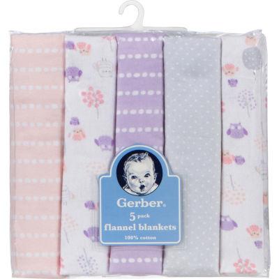 Gerber 5-pc. Baby Girl Blanket - Pink Owl