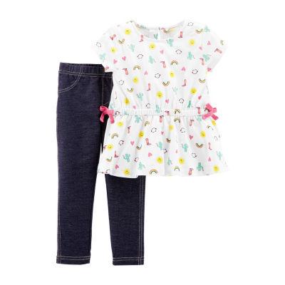 Carter's 2pc Legging Set-Toddler Girls