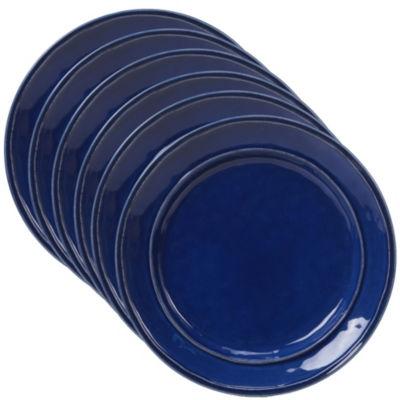 Certified International Orbit Blue 6-pc. Dessert Plate