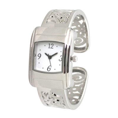 Olivia Pratt Womens Silver Tone Bracelet Watch-A917570silver