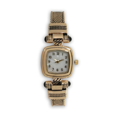 Olivia Pratt Womens Gold Tone Strap Watch-H10032gold