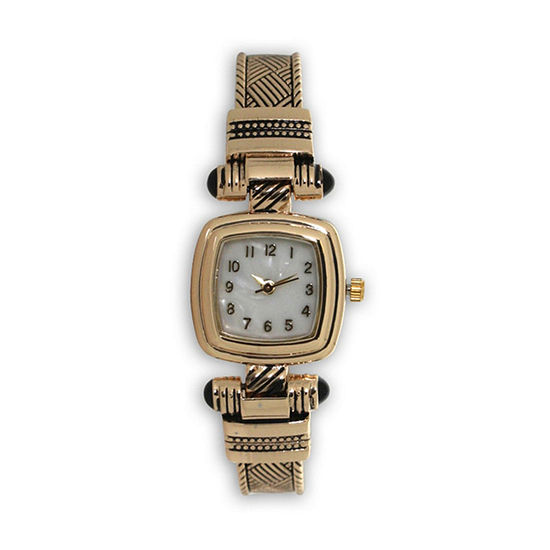 Olivia Pratt Womens Gold Tone Strap Watch-H10032gold