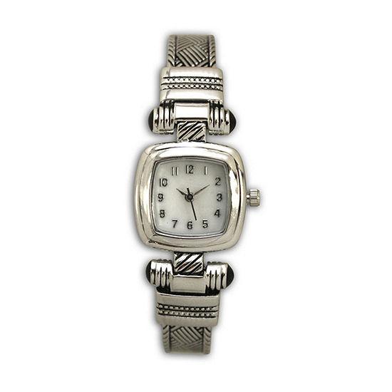 Olivia Pratt Womens Silver Tone Strap Watch-H10032silver