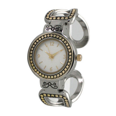 Olivia Pratt Womens Two Tone Strap Watch-A916957twotone