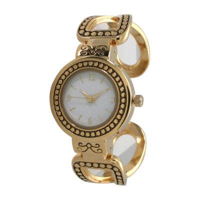 Olivia Pratt Womens Gold Tone Bracelet Watch-A916957gold