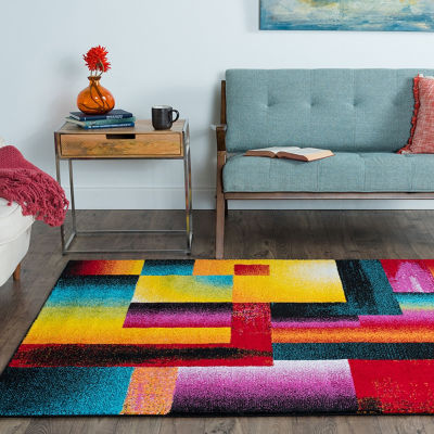 Tayse Symphony Mondria Rectangular Indoor Area Rug