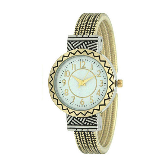 Olivia Pratt Womens Two Tone Bangle Watch-A917604twotone