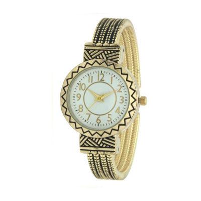 Olivia Pratt Womens Gold Tone Strap Watch-A917604gold