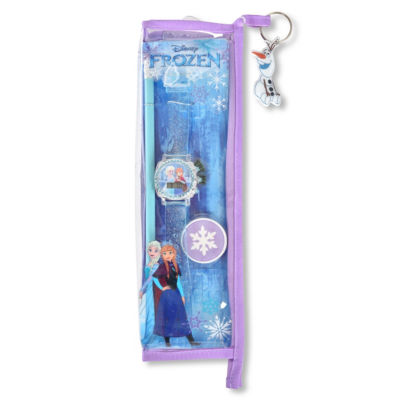 Disney's Frozen Unisex Blue Strap Watch-Fzn40018jc