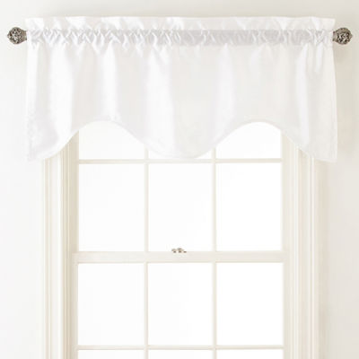 JCPenney Home Rod-Pocket Scallop Valance
