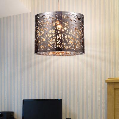 Warehouse Of Tiffany Evelyn 1-light Chrome 10-inch Crystal Pendant Lamp