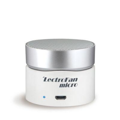 LectroFan micro Wireless White Noise & Fan Sound Machine- White Silver