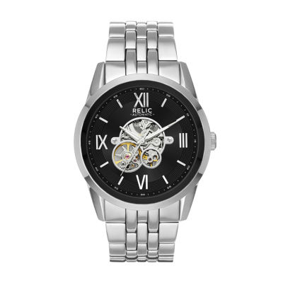 Relic Mens Gray Bracelet Watch-Zr77296