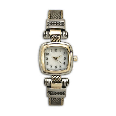 Olivia Pratt Womens Two Tone Strap Watch-H10032twotone