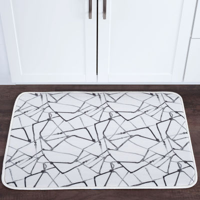 Tayse Shatter Contemporary Solid Anti-Fatigue Comfort Kitchen Mat